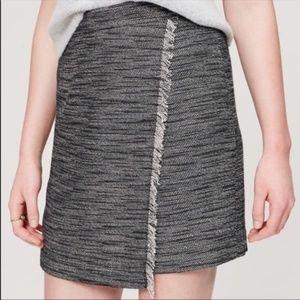 Ann Taylor LOFT women's skirt tweed wrap size 8